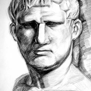 isualsense sketch Plaster Portrait